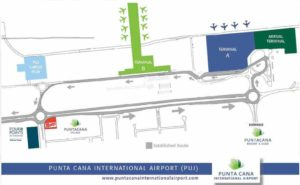Схема аэропорта Пунта-Кана