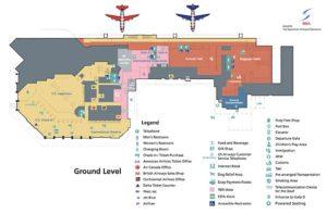 Схема аэропорта на Бермудах