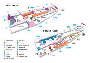 Схема аэропорта Сен-Мартен