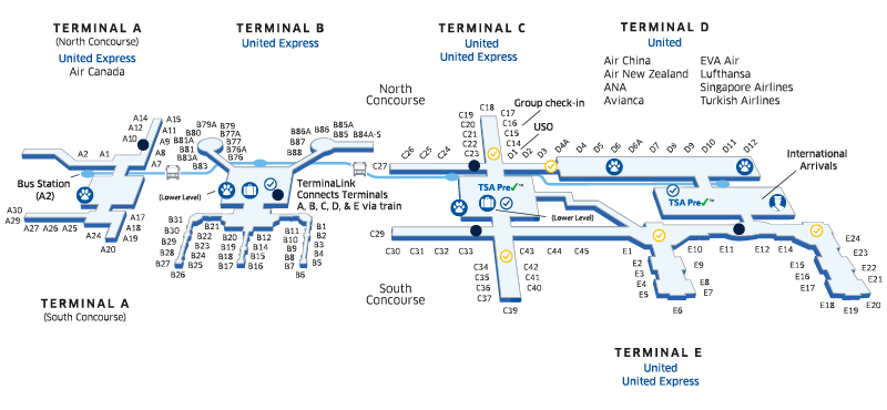 схема аэропорт Джордж