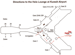 Схема аэропорта Кувейта
