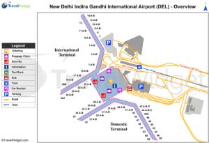 Схема аэропорта Нью-Дели