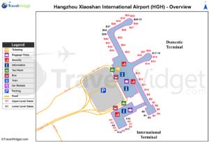 Схема аэропорта Ханчжоу