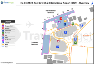 Схема аэропорта Хошимина