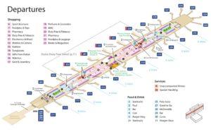 Схема аэропорта Дубая