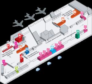 Схема аэропорта Чианг Май