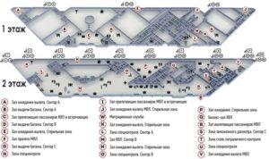 Схема аэропорта Сочи