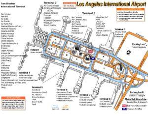 Схема аэропорта Лос-Анджелес