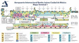 Схема аэропорта Мексики