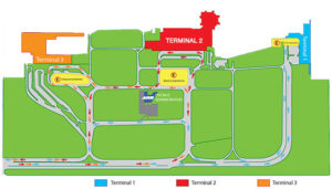 Схема аэропорта Канкуна