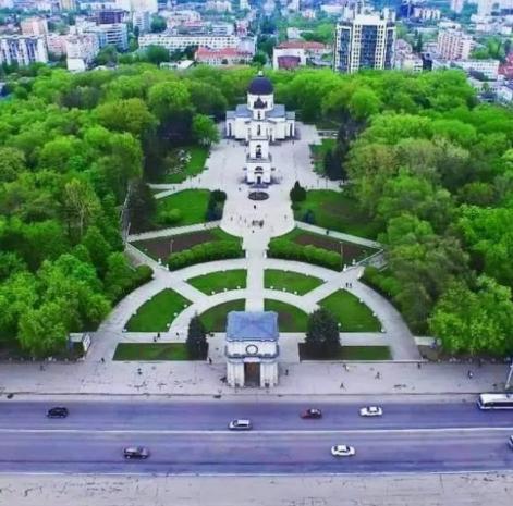 Соборный парк в городе Кишинёв.
