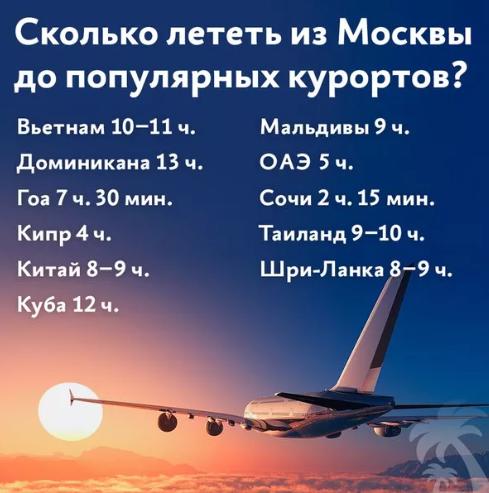 Из Москвы до популярных курортов