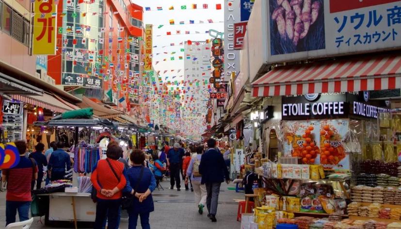 Рынок Намдэмун. Сеул